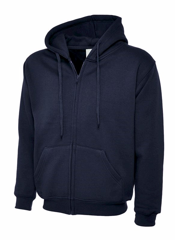 Uneek Adults Classic Full Zip Hooded Sweatshirt UC504