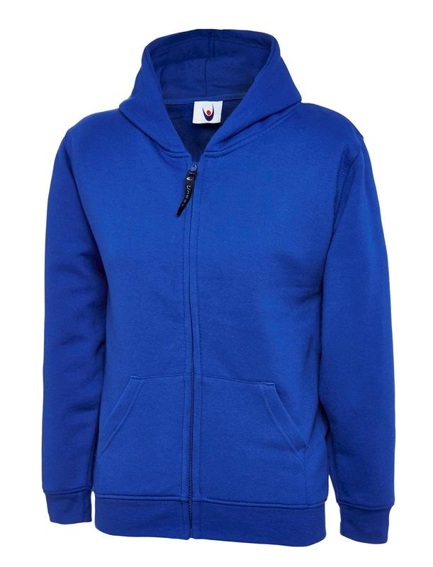 Uneek Childrens Classic Full Zip Hooded Sweatshirt UC506