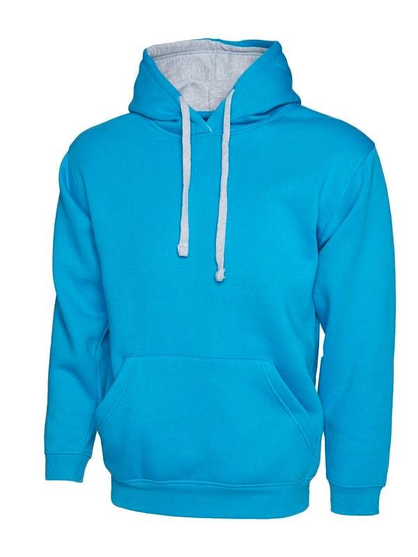 Uneek Contrast Hooded Sweatshirt UC507