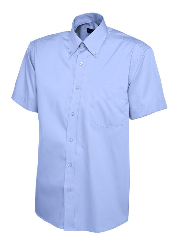 Uneek Mens Pinpoint Oxford Half Sleeve Shirt UC702
