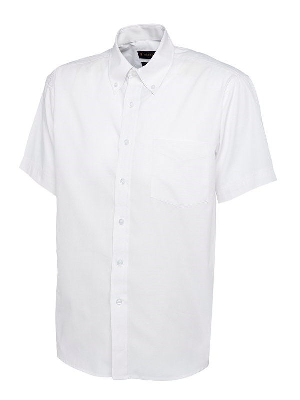 Uneek Mens Pinpoint Oxford Half Sleeve Shirt UC702