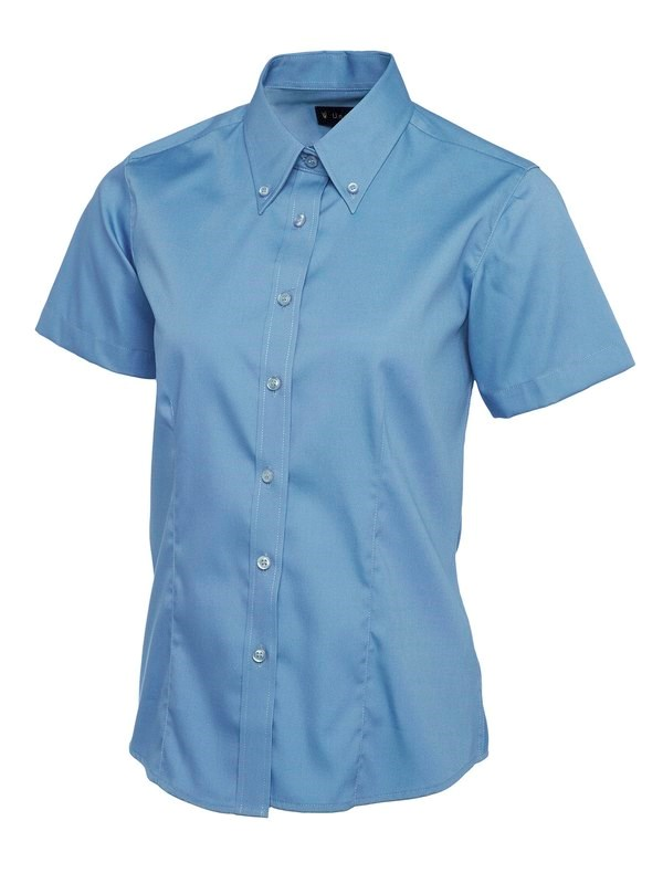 Uneek Ladies Pinpoint Oxford Half Sleeve Shirt UC704