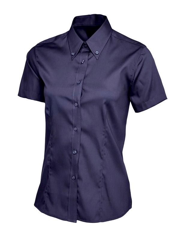 Uneek Ladies Pinpoint Oxford Half Sleeve Shirt UC704