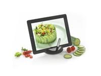 Chef tablet standaard met touchpen, zwart