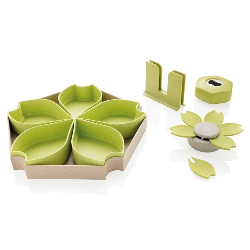 ECO tarwestro 4-delige keuken set, groen