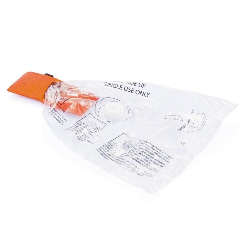 Eerste hulp beademingsmasker, oranje