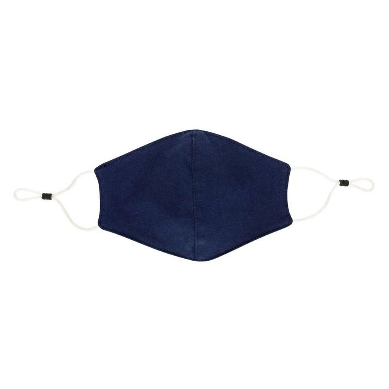 Herbruikbaar 2 laags katoenen gezichtsmasker, donkerblauw