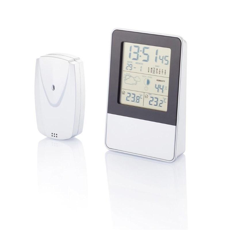 Indoor/outdoor weerstation, zilverkleurig
