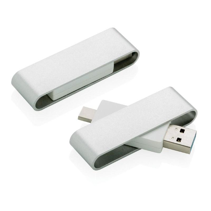 Pivot USB met type C, grijs