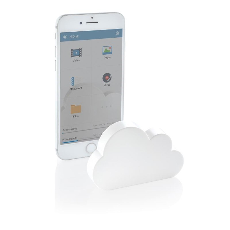 Pocket cloud draadloze mobiele opslag, wit