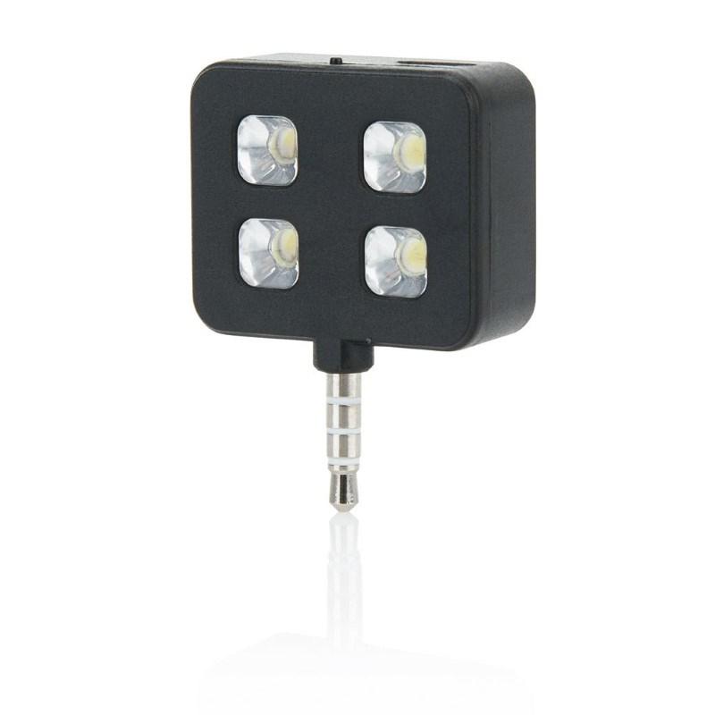 LED lamp flits versterker voor smartphone, zwart