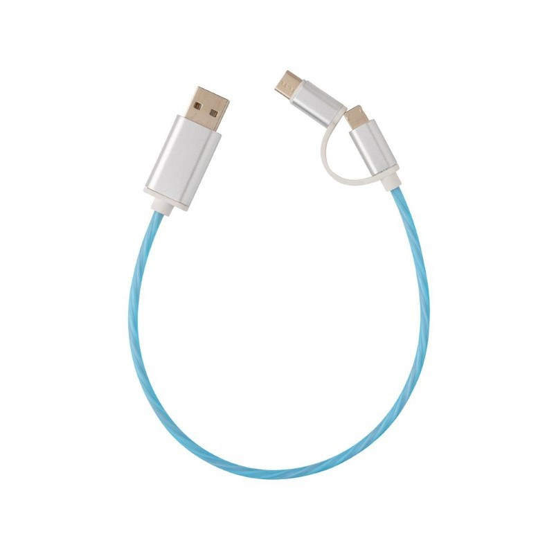 3-in-1 LED flow kabel, blauw