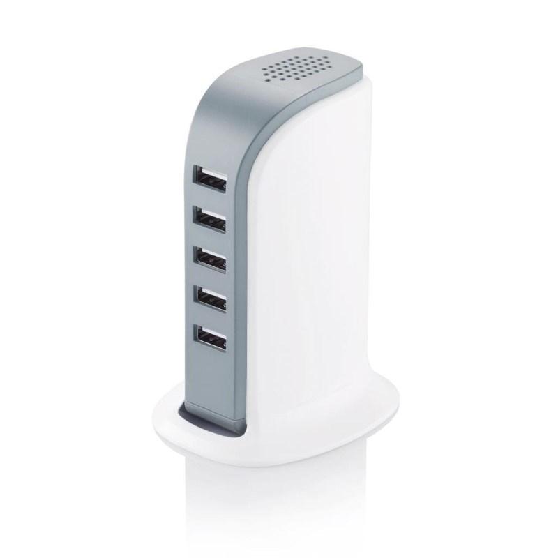 6A -5 poort USB oplaadstation, wit