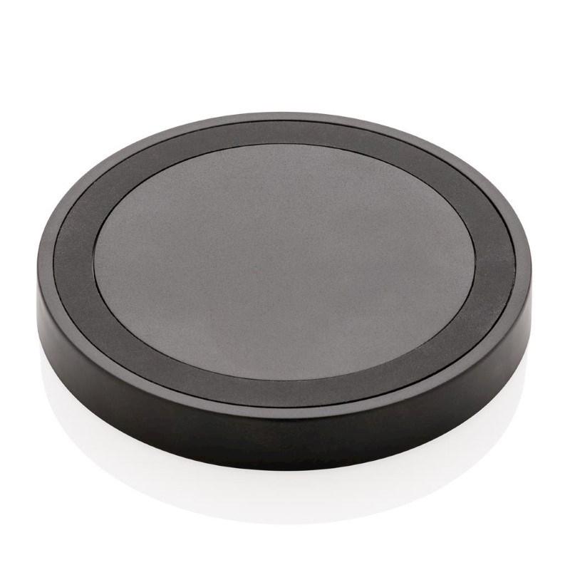 5W draadloze oplader rond, zwart