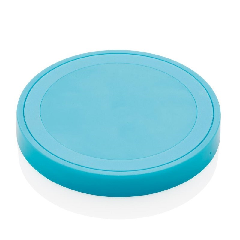 5W draadloze oplader rond, blauw