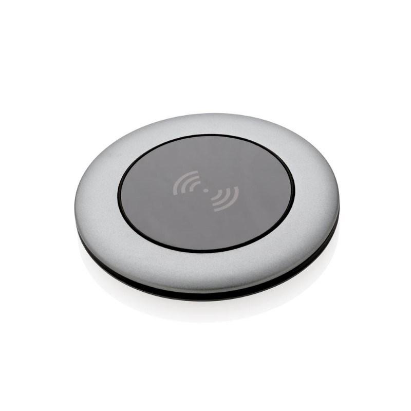 Aluminium 5W draadloze oplader, grijs