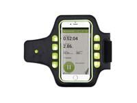 Sport armband met LED verlichting, zwart