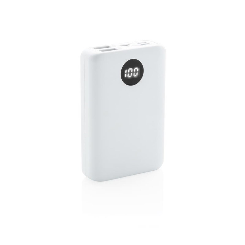10.000 mAh zakformaat powerbank met triple input, wit