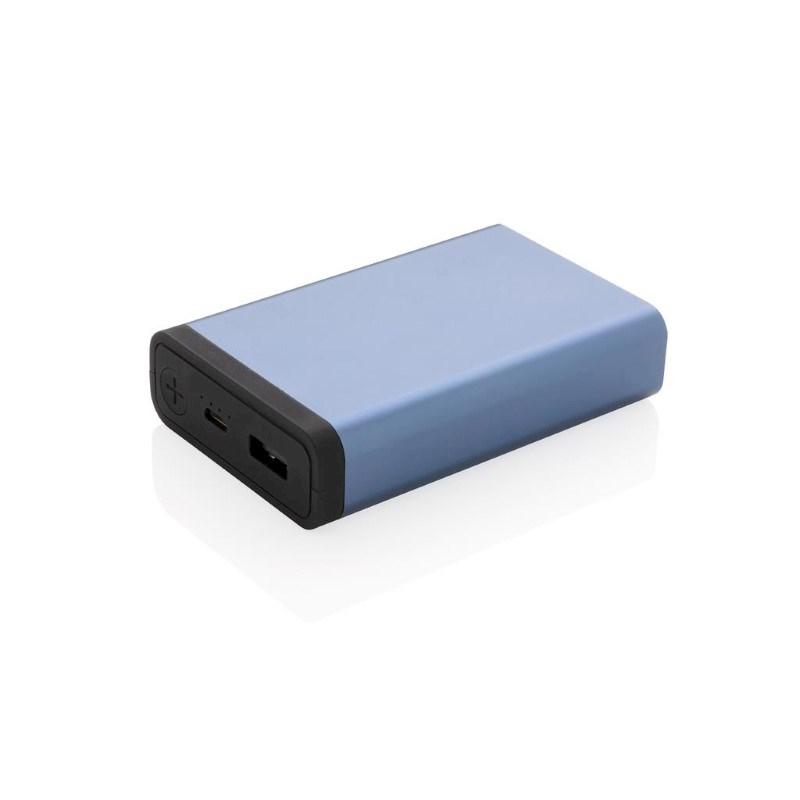 10.000 mAh aluminium zakformaat powerbank, blauw