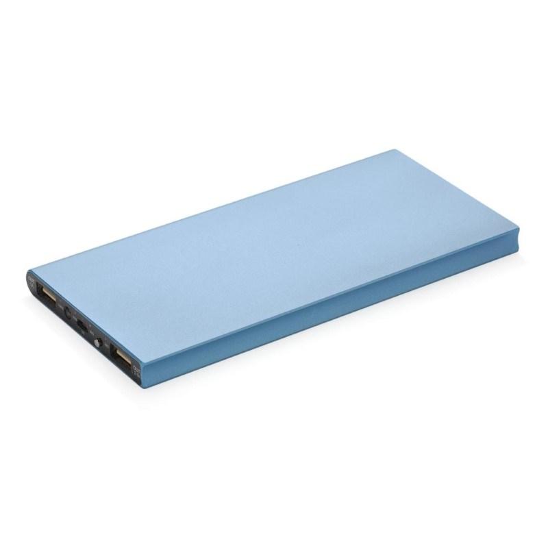 8.000 mAh powerbank, blauw
