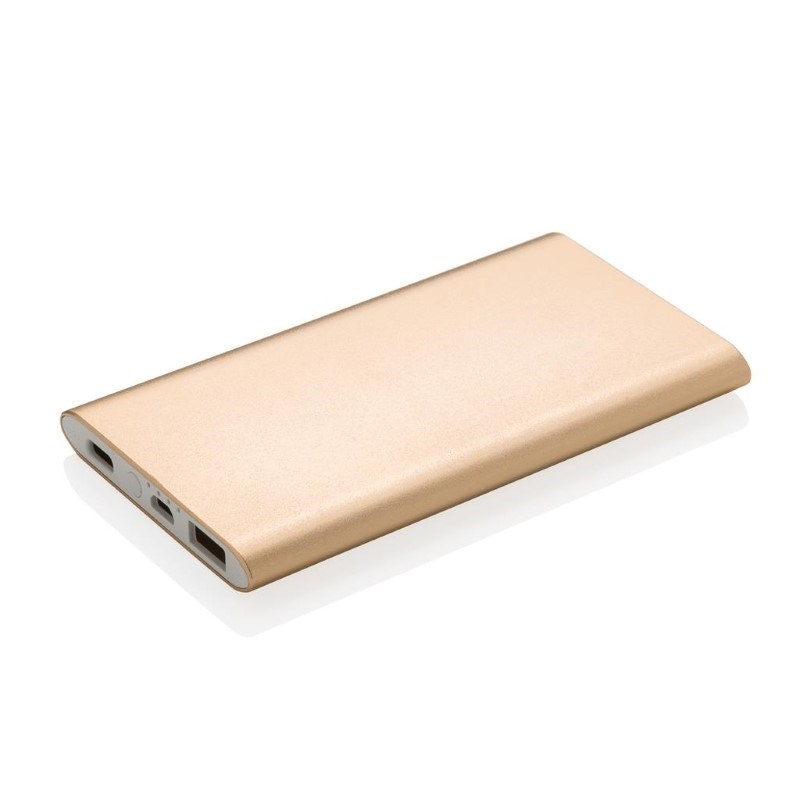 4.000 mAh type C powerbank, goudkleurig