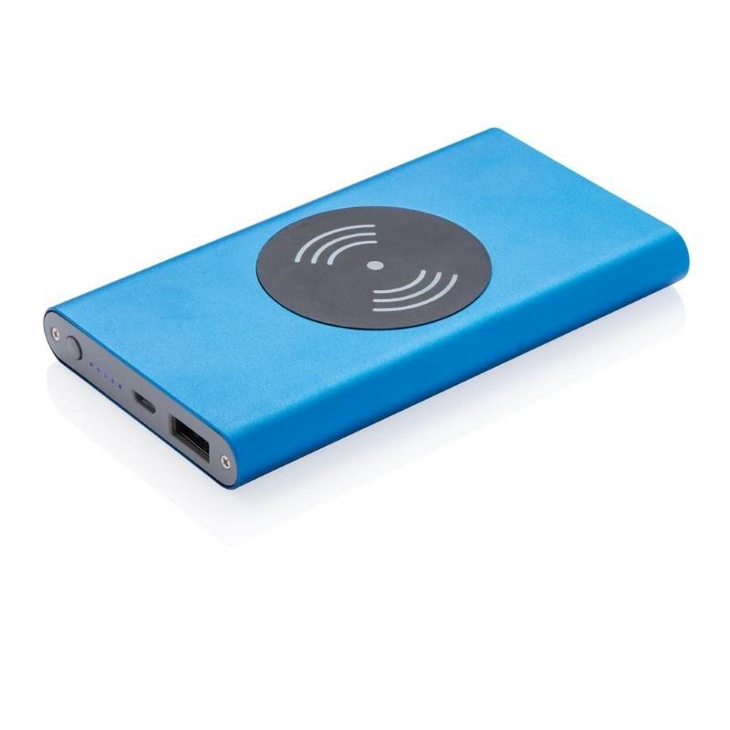 4.000 mAh powerbank met 5W draadloos opladen-functie, blauw