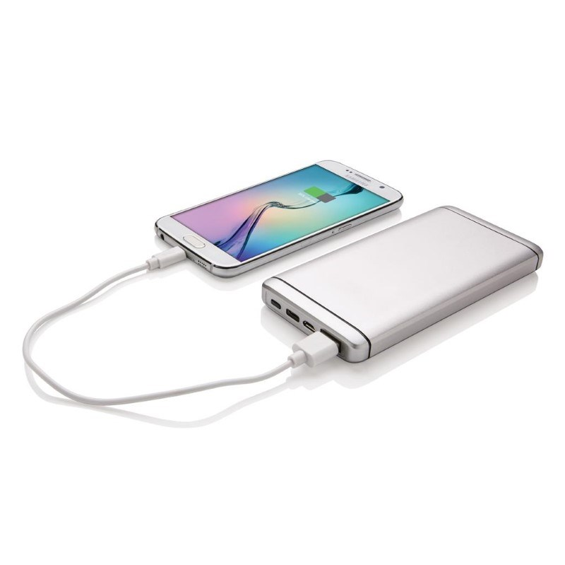 10.000 mAh Type C powerbank, zilver