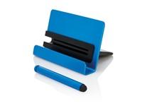 Aluminium telefoon standaard met touch pen, blauw