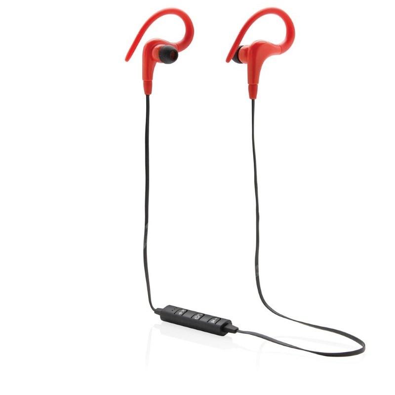 Draadloze sport oordoppen, rood