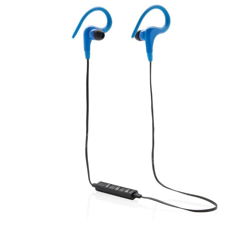 Draadloze sport oordoppen, blauw