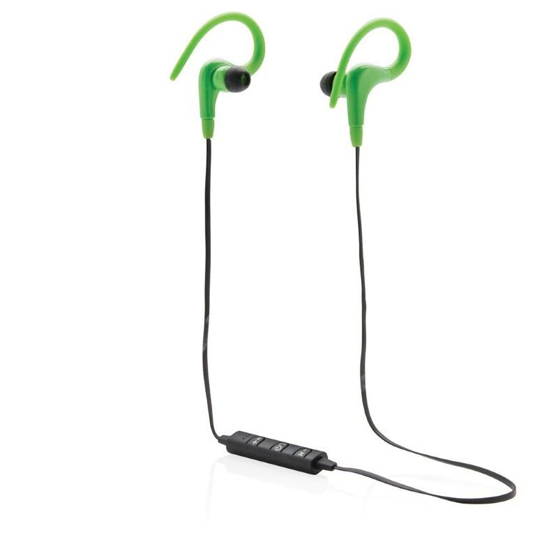 Draadloze sport oordoppen, groen