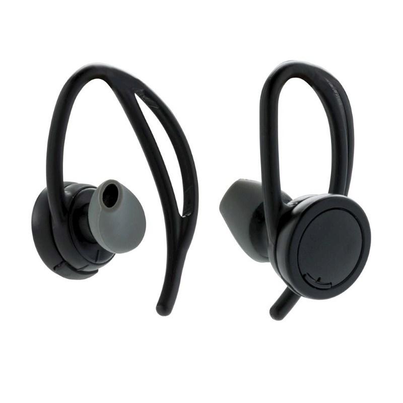 True Wireless sport oordoppen, zwart