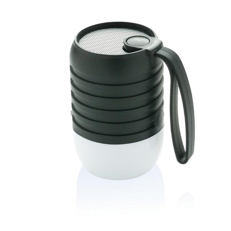Kleurwisselende speaker lamp, zwart