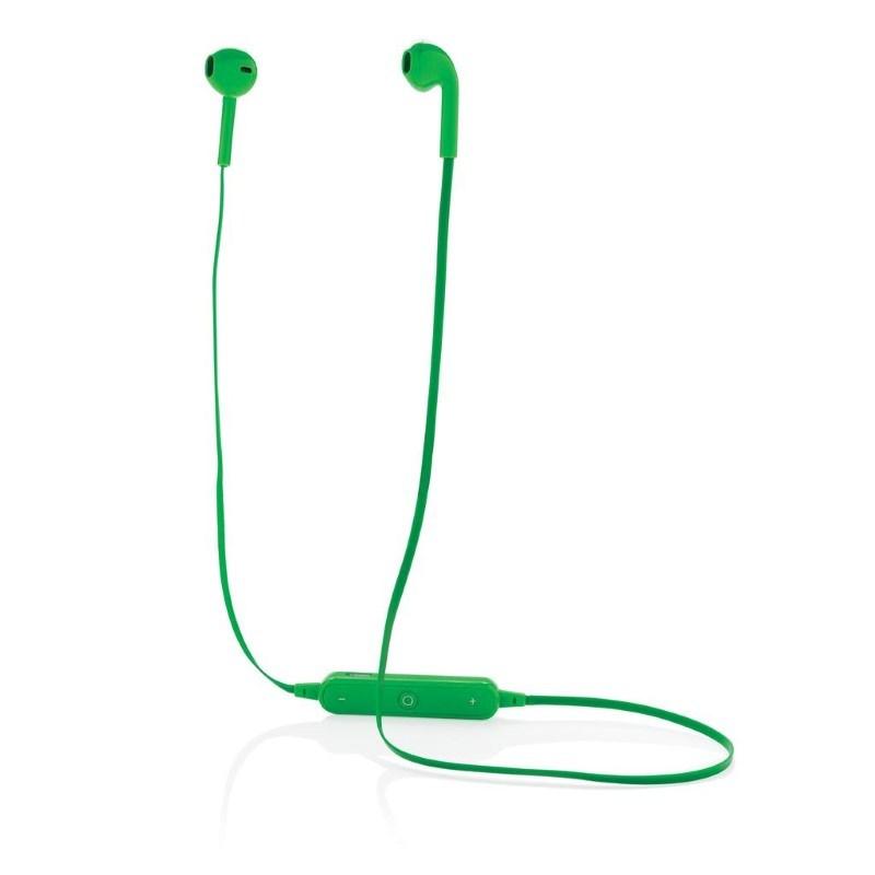 Draadloze oordoppen in etui, groen