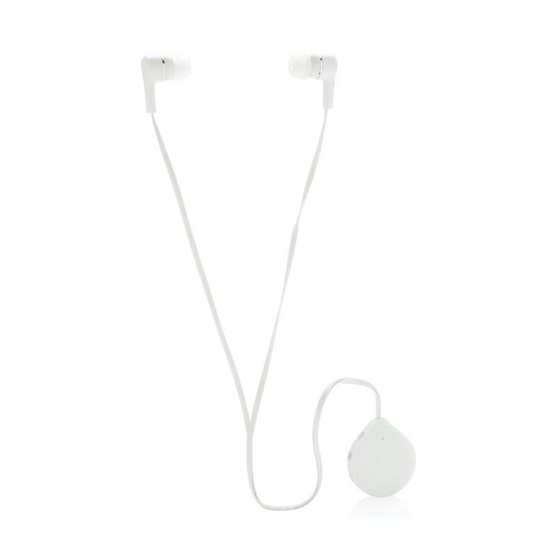 Draadloze oortelefoon met clips, wit