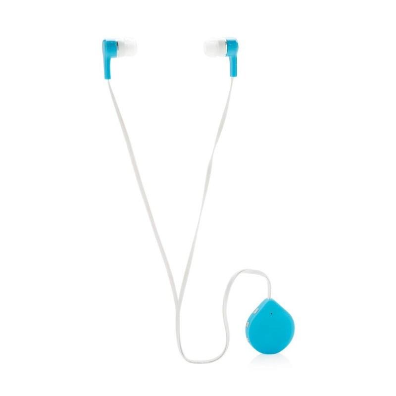 Draadloze oortelefoon met clips, blauw
