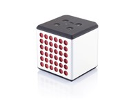 Sound bass speaker medium, zilverkleurig/rood