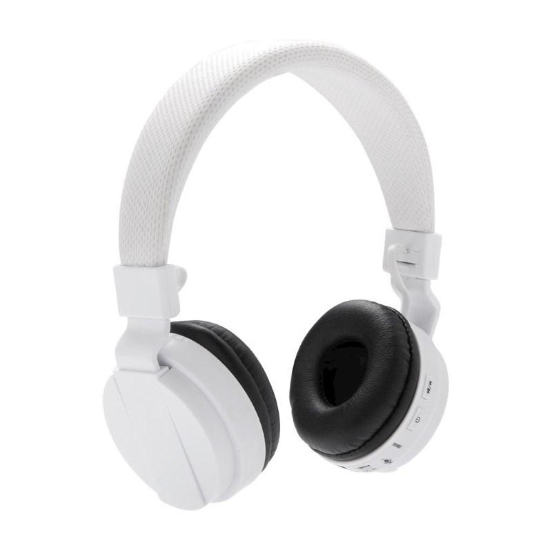 Opvouwbare draadloze hoofdtelefoon, wit