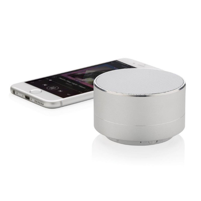 Draadloze BBM speaker, zilverkleurig