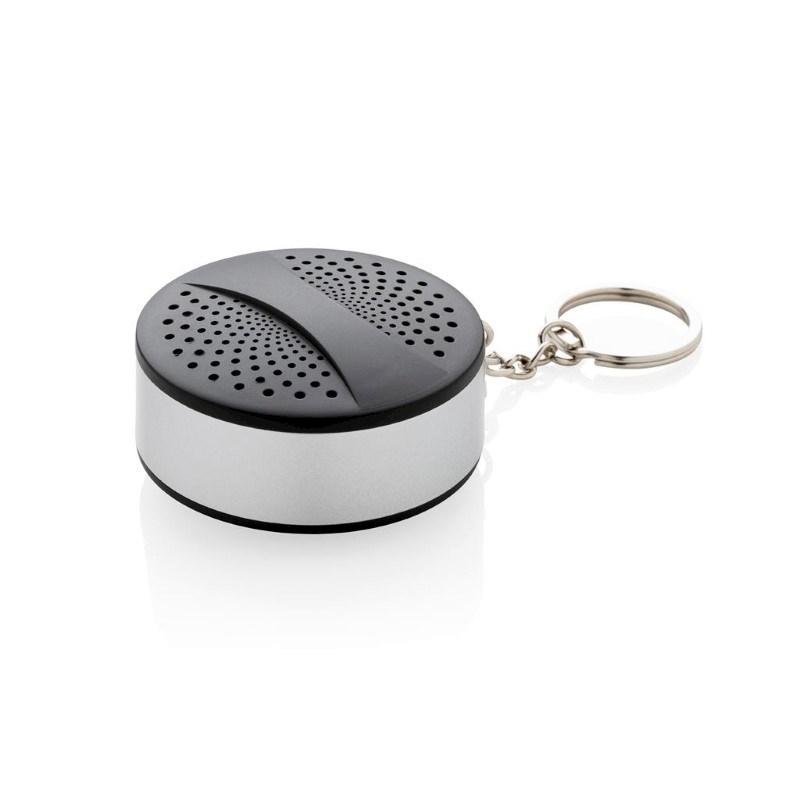 Draadloze sleutelhanger speaker, zwart