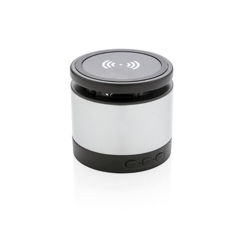 5W speaker met draadloze oplader, grijs