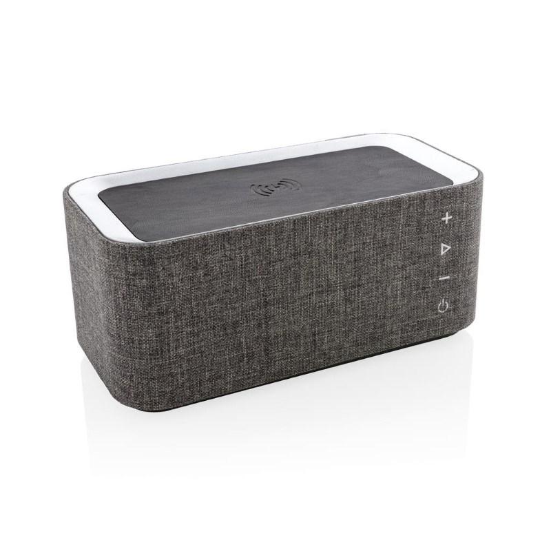 Vogue speaker met 5W draadloze oplader, grijs