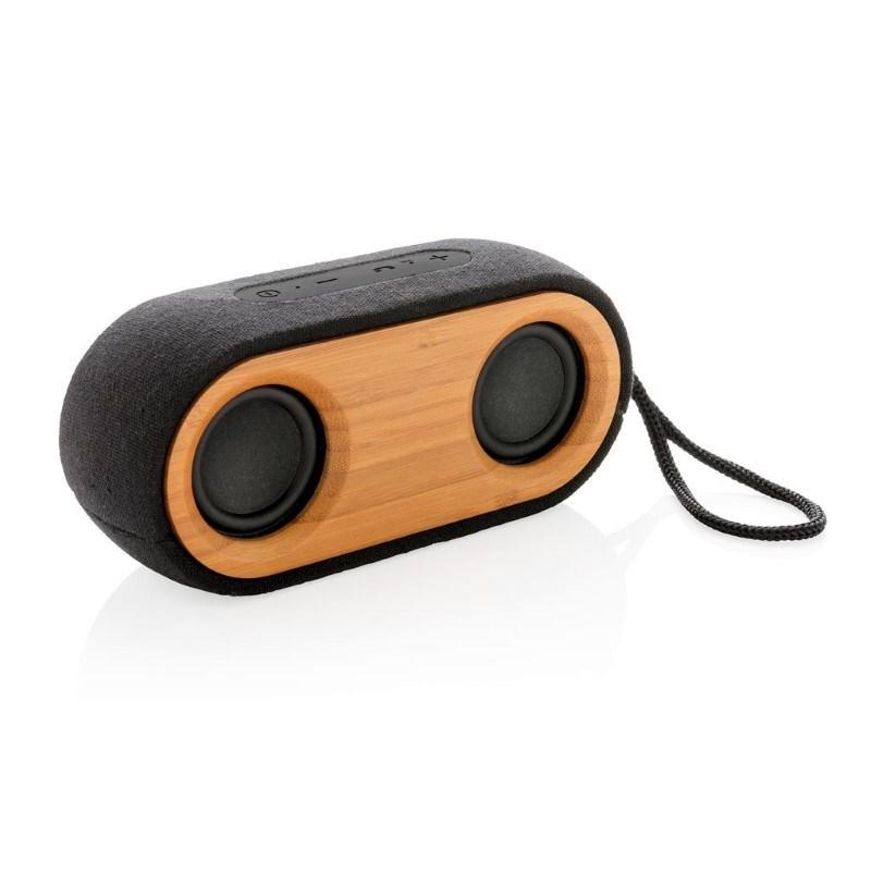 Bamboo X dubbele 10W speaker, zwart