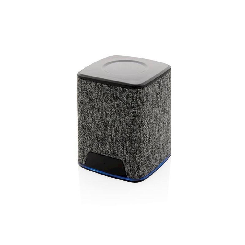 Light up logo 3W fabric draadloze speaker, grijs