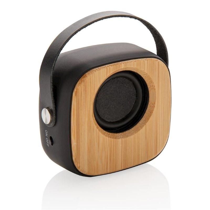 Bamboe 3W draadloze fashion speaker, zwart