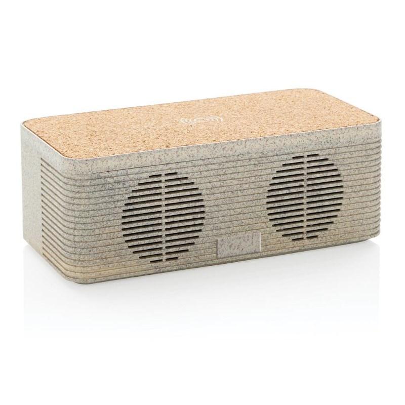 Tarwestro 5W speaker met draadloze oplader, bruin