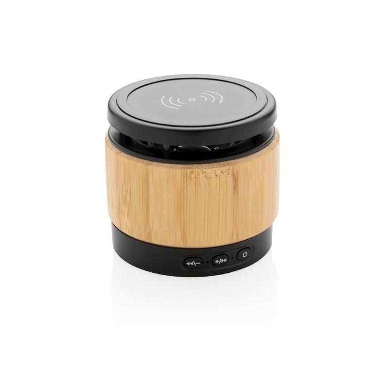 Bamboe 3W speaker met draadloze oplader, bruin