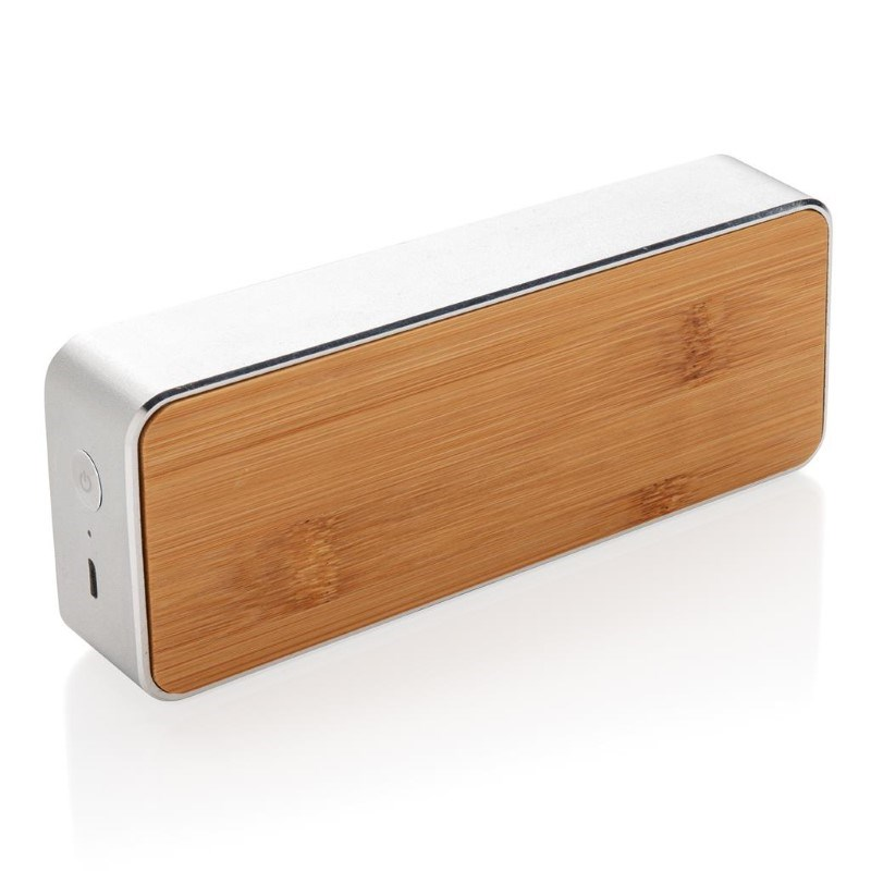 Nevada Bamboe draadloze 3W speaker, grijs