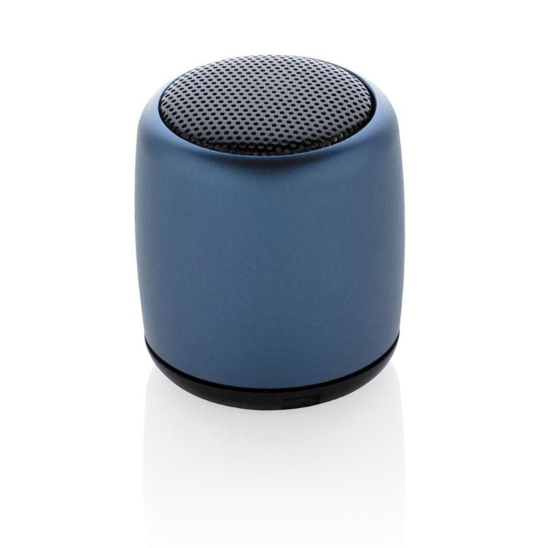Mini aluminium draadloze speaker, blauw