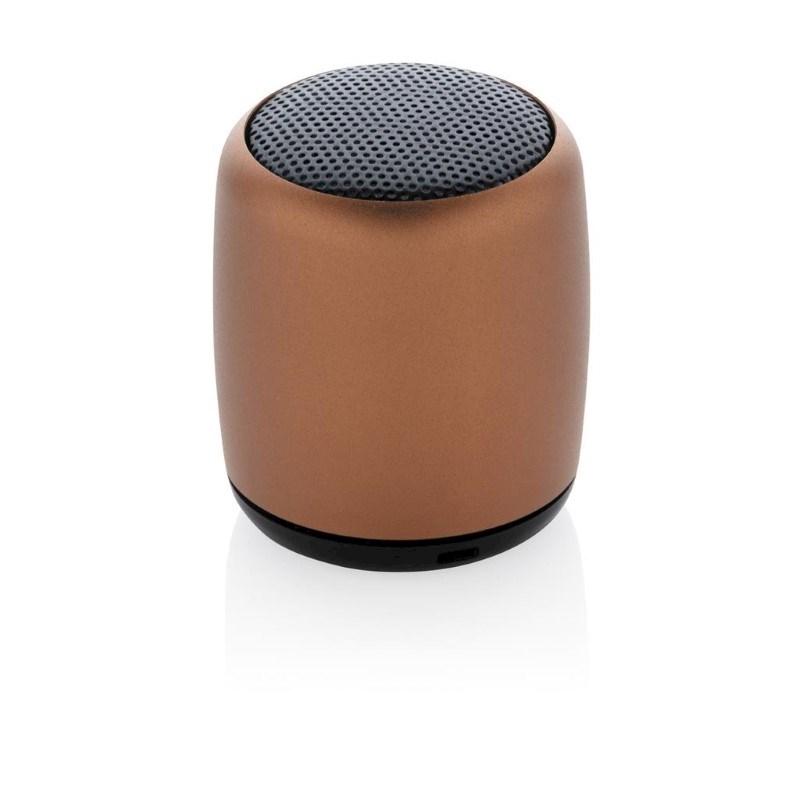 Mini aluminium draadloze speaker, bruin